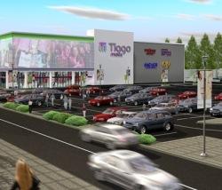 A készülő Tiago Mall
