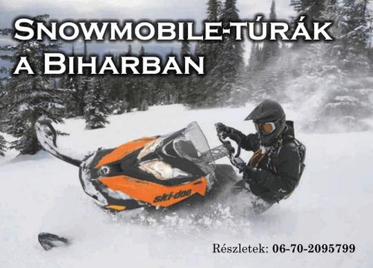 Csoportos motoros-szán-túrák a Bihar hegységben
