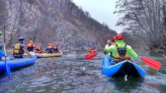 Rafting. kayaking Rév-Sonkolyos
