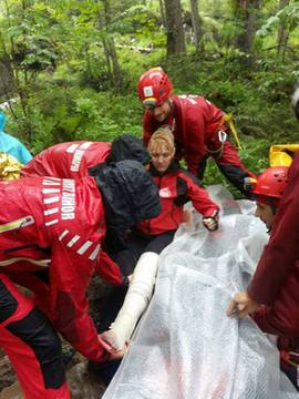 A mentésről készült felvételet a Bihar Megyei Hegyi- és Barlangi Mentőszolgálat bocsátotta a rendelkezésünkre